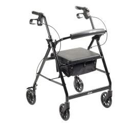 McKesson 4-wheel Rollator, Black