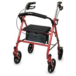 McKesson 4-wheel Rollator, Red