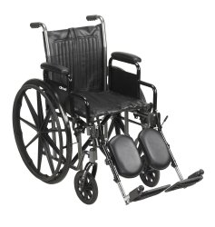 McKesson Standard Wheelchair with Padded, Removable Arm, Composite Mag Wheel, 16 in. Seat, Swing-Away Footrest, 250 lbs