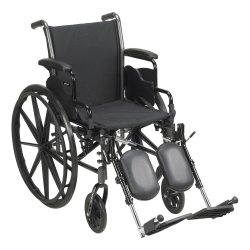 McKesson Lightweight Wheelchair with Flip Back, Padded, Removable Arm, Composite Mag Wheel, 16 in. Seat, Swing-Away Elevating Footrest, 300 lbs