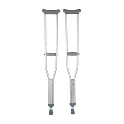McKesson Underarm Crutches, 5 ft. 2 in. - 5 ft. 10 in., Adult, 350 lbs. Weight Capacity