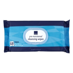 Abena® Scented Pre-Moistened Cleansing Wipes, Soft Pack