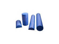 CanDo® Half-Round Roller, Polyethylene Foam, 36 in. L x 6 in. W x 3 in. H, Blue