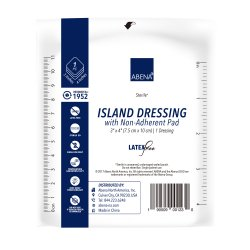 Abena® White Adhesive Dressing, 3 x 4 Inch