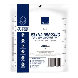 Abena® White Adhesive Dressing, 4 x 4 Inch