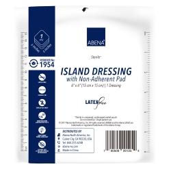 Abena® White Adhesive Dressing, 6 x 6 Inch