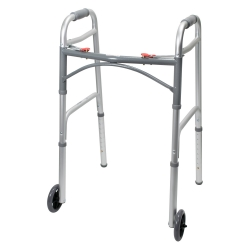 McKesson Folding Walker, 32 - 39 in., Silver, 350 lbs. Capacity, Aluminum