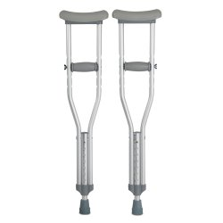 McKesson Child Underarm Crutches, 4 ft. - 4 ft. 6 in.