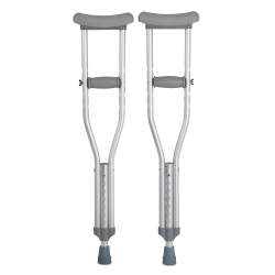 McKesson Underarm Crutches, 4 ft. - 4 ft. 6 in., Child, 175-lb Weight Capacity