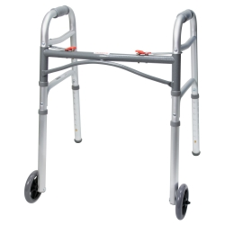 McKesson Folding Walker, 25 - 32¼ in., Silver, 350 lbs. Capacity, Aluminum