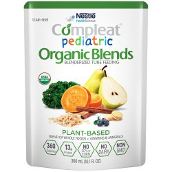 Compleat® Pediatric Organic Blends Ready to Use Oral Supplement / Tube Feeding Formula, 10.1 oz. Pouch, Plant Blend