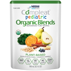 Compleat® Pediatric Organic Blends Ready to Use Oral Supplement / Tube Feeding Formula, Plant Blend, 10.1 oz. Pouch