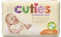 Cuties® Complete Care Diaper, Size 1, 48 per Package