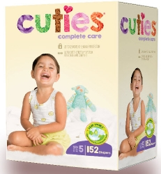 Cuties Complete Care Diapers, Size 5