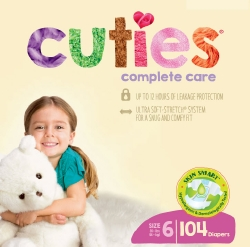Cuties Complete Care Diapers, Size 6