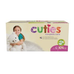 Cuties® Complete Care Diaper, Size 6