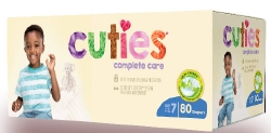 Cuties Complete Care Diapers, Size 7