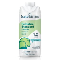 Kate Farms® Pediatric Standard 1.2 Vanilla Pediatric Oral Supplement / Tube Feeding Formula, 8.5 oz. Carton