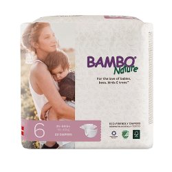 Bambo® Nature Baby Heavy-Absorbent Diaper, Size 6, White