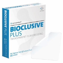 Bioclusive® Plus Transparent Film Dressing, 2-3/8 x 2¾ Inch