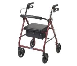 drive™ Red 4 Wheel Rollator