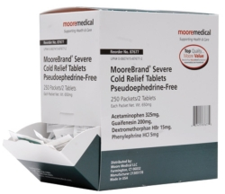 MooreBrand® Cold and Cough Relief, 250 Packets per Carton