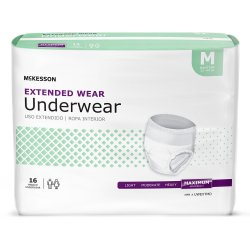 McKesson Extended Wear Maximum Absorbent Underwear, Medium