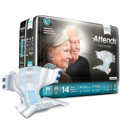 Attends® Premier Overnight Incontinence Brief, Medium