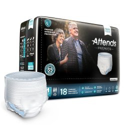 Attends® Premier Overnight Absorbent Underwear, Medium