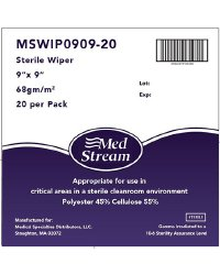 McKesson Cleanroom Wipes, 9 X 9 Inch