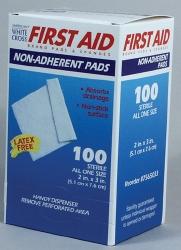 Dukal Sterile Non-Adherent Telfa Pad Dressing, 2 x 3 Inch, White