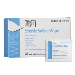 Hygea® Unscented Saline Wipe, Individual Packet