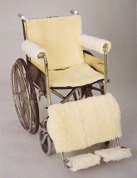 SkiL-Care™ Leg Pad, Synthetic Sheepskin, Cream, Non-inflatable