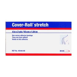 Cover-Roll® Stretch Nonsterile Dressing Retention Tape, 4 Inch x 2 Yard, White