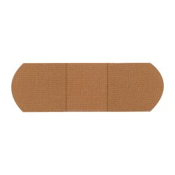 American® White Cross Tan Adhesive Strip, ¾ x 3 Inch