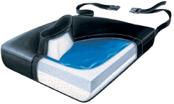 SkiL-Care™ Wedge Seat Cushion, 18 in. W x 16 in. D x 2 in. H, Foam, Black, Non-inflatable