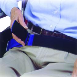 SkiL-Care™ Wheelchair Safety Belt, 2 x 54 in., Black / Blue