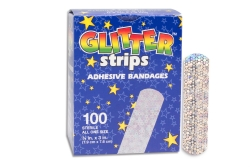 Stat Strip® Glitter Kid Design Adhesive Strip, ¾ x 3 Inch