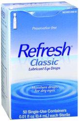 Refresh® Classic Eye Lubricant, 0.01 oz. Ampule