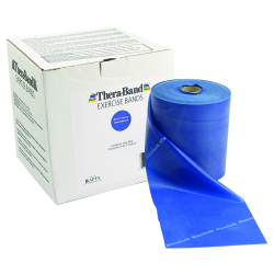 TheraBand® X-Heavy Exercise Resistance Band, Blue, 5 in. W x 50 yd. L