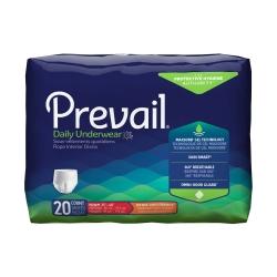 Prevail® Daily Underwear Adult Moderate Absorbent Underwear, Medium, White
