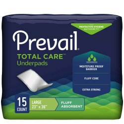 Prevail® Fluff Underpad, 23 x 36 Inch