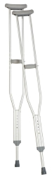 Carex® Underarm Crutches, 5 ft. 2 in. - 5 ft. 10 in., Adult, 250 lbs. Weight Capacity