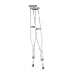 Carex® Underarm Crutches, 5 ft. 2 in. - 5 ft. 10 in., Adult, 250-lb Weight Capacity