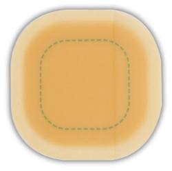 ConvaTec DuoDERM® Signal® Square Sterile Hydrocolloid Dressing, 4 x 4 Inch, Beige