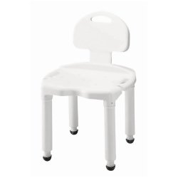 Carex® Universal Bath Seat with Back, White, 400 lbs. Capacity