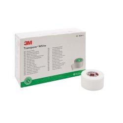 3M™ Transpore™ White Medical Tape, 1 Inch x 10 Yard