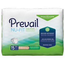 Prevail® Nu-Fit® Adult Heavy-Absorbent Incontinence Brief, X-Large, Beige
