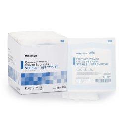 McKesson Square Sterile 8-Ply USP Type VII Cotton Gauze Sponge, 2 x 2 Inch, 2-Pack