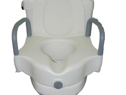 Sunmark® Raised Toilet Seat with Arms